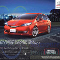 Read more about Toyota Wish MPV Offer 26 Sep 2015