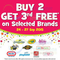 "Read more about Toys ""R"" Us Buy 2 Get 1 Free Selected Brands 24 - 27 Sep 2015"