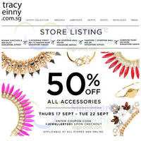 Read more about Tracyeinny 50% Off Accessories Promotion 17 - 22 Sep 2015