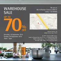 Read more about WMF Warehouse Sale 19 - 20 Sep 2015