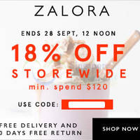 Read more about Zalora 18% OFF ($120 Min Spend) Storewide Coupon Code 25 - 28 Sep 2015