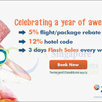 Read more about Zuji Singapore 12% OFF Hotels Coupon Code (NO Min Spend) For AMEX Cardmembers 14 Sep - 4 Oct 2015