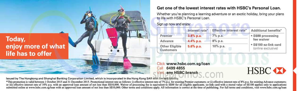 Personal Loan Interest Rates Hsbc