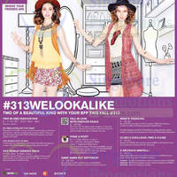 313@Somerset #313welookalike BFF Promotions & Activities 10 - 25 Oct 2015