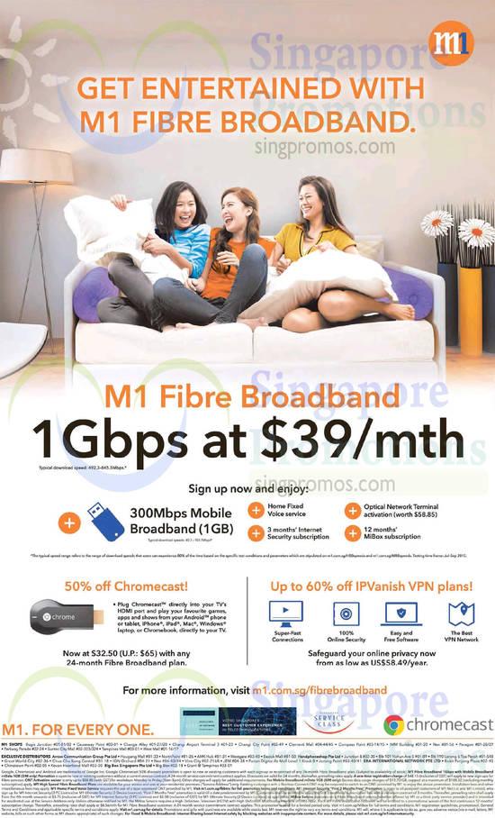 39.00 1Gbps Fibre Broadband, Chromecast