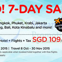 Air Asia Go $109/pax 3D2N Hotel, Flights + Taxes 5 - 11 Oct 2015