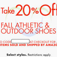 Read more about Amazon.com 20% OFF Fall Athletic & Outdoor Shoes (NO Min Spend) Coupon Code 15 - 29 Oct 2015