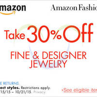 Read more about Amazon.com 30% OFF Fine & Designer Jewellery (NO Min Spend) Coupon Code 15 - 22 Oct 2015