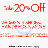 Read more about Amazon.com 20% OFF Women's Shoes, Handbags & More (NO Min Spend) Coupon Code 2 - 8 Oct 2015