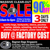 Read more about Bagman Bags Annual Warehouse Clearance Sale 16 - 18 Oct 2015