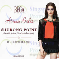 Read more about Bega Atrium Sale @ Jurong Point 18 - 24 Oct 2015