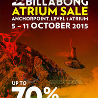 Billabong Atrium Sale @ Anchorpoint 7 - 11 Oct 2015