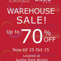 Read more about Black Hammer & Anna Black Warehouse Sale @ Jurong Point 19 - 25 Oct 2015