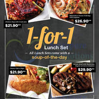 Breeks 1-for 1 Lunch Set Weekday Promotion 9 - 30 Oct 2015