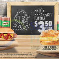 Burger King $3.50 Breakfast Set Offers From 13 Oct 2015