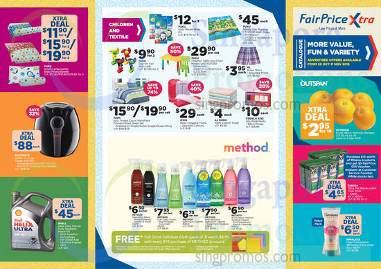 Catalogue Super Saver Children, Textile, Method Sprays, Fruits, Europace Airfryer