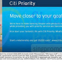 Read more about Citibank Get $200 Cash For Citi Priority Relationships 4 Oct 2015