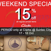Read more about Clarks 15% Off Storewide @ Suntec City Mall 17 - 18 Oct 2015