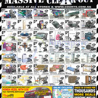 Courts Massive Clear-Out 1-Day Deals 9 Oct 2015