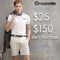 Crocodile Spend $150 & Get $25 Off 9 - 31 Oct 2015