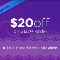 Crocs $20 Off With $120 Spend 13 - 15 Oct 2015