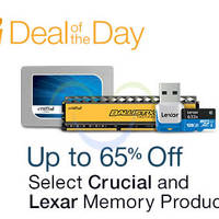 Read more about Crucial & Lexar Up To 65% Off Memory Products 24hr Promo 12 - 13 Oct 2015