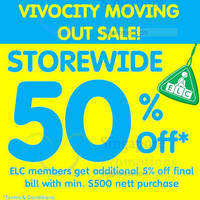 Read more about Early Learning Centre 50% Off Storewide @ Vivocity From 6 Oct 2015