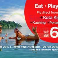 Air Asia fr $65 all-in Promo Fares 5 - 11 Oct 2015