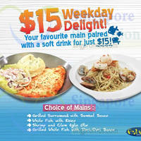 Read more about Fish & Co $15 Main Dish & Drink Weekday Delight Offer From 12 Oct 2015