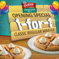 Read more about Gelare 1-for-1 Waffles Promo @ Thomson Plaza 1 - 6 Oct 2015