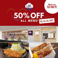 Ginza Bairin 50% Off All Menu @ ION Orchard 12 - 14 Oct 2015