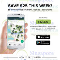 Read more about Grabtaxi Free Ride Week Coupon Code For New Users 26 - 30 Oct 2015