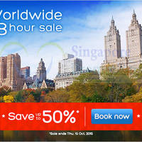 Read more about Hotels.com Up To 50% Off 48hr Worldwide Sale 14 - 15 Oct 2015