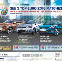 Hyundai Tucson, Elantra & Accent Offers 10 Oct 2015