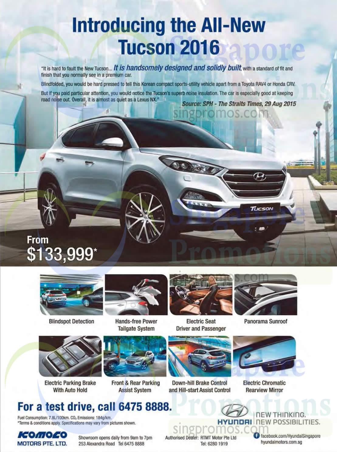 Hyundai Tucson 2016 Offer 3 Oct 2015