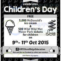 Kent Ridge Education Free McDonald's Ice Cream Giveaway 9 - 11 Oct 2015