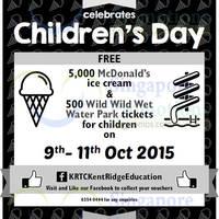 Kent Ridge Education Free McDonald's Ice Cream Giveaway 9 - 11 Oct 2015