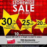 Read more about MPH Bookstore 20% to 25% Off Books Storewide Sale @ Parkway Parade 8 - 11 Oct 2015