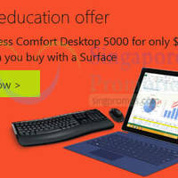 Microsoft Surface Buy & Get 75% Off Wireless Desktop Combo For Students 10 - 23 Oct 2015