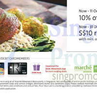 Marché Mövenpick Dining Privileges For OCBC Cardmembers 4 Oct - 31 Dec 2015