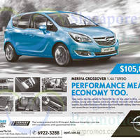 Read more about Opel Meriva Crossover 1.4A Turbo Offer 3 Oct 2015