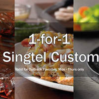 Read more about Outback Steakhouse 1-for-1 Outback Fav Items For Singtel Customers (Mon to Thurs) 1 Oct - 30 Nov 2015