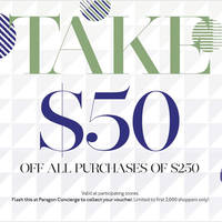 Read more about Paragon $50 Off Voucher ($250 min spend) Voucher From 15 Oct 2015