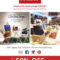 The Good Things $10 Off Coupon @ Paragon 6 Oct - 30 Nov 2015