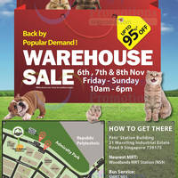 Read more about Pets' Station Warehouse Sale 6 - 8 Nov 2015