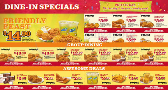 image about Popeyes Coupons Printable named Popeyes discount coupons canada / Coupon code melissa and doug