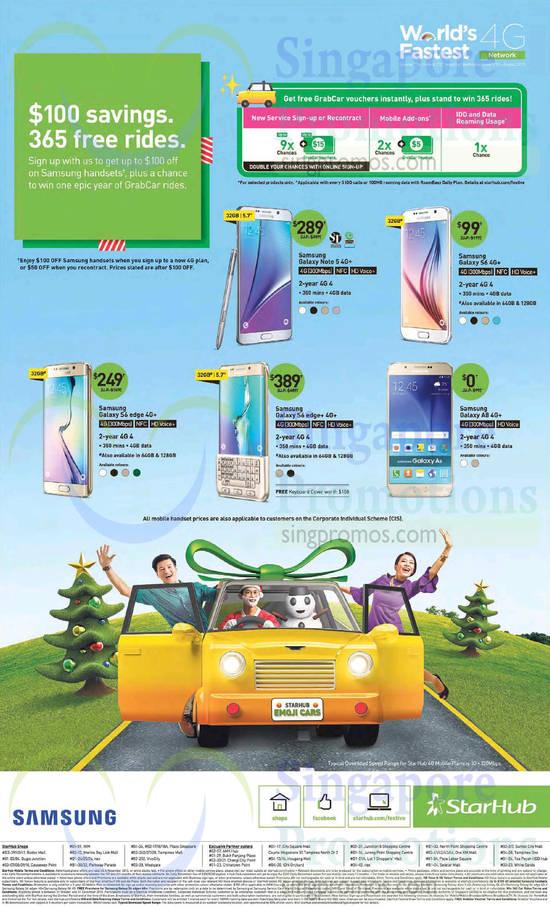 Samsung Galaxy Note 5, Samsung Galaxy S6, Samsung Galaxy A8, Samsung Galaxy S6 Edge Plus, Samsung Galaxy S6 Edge