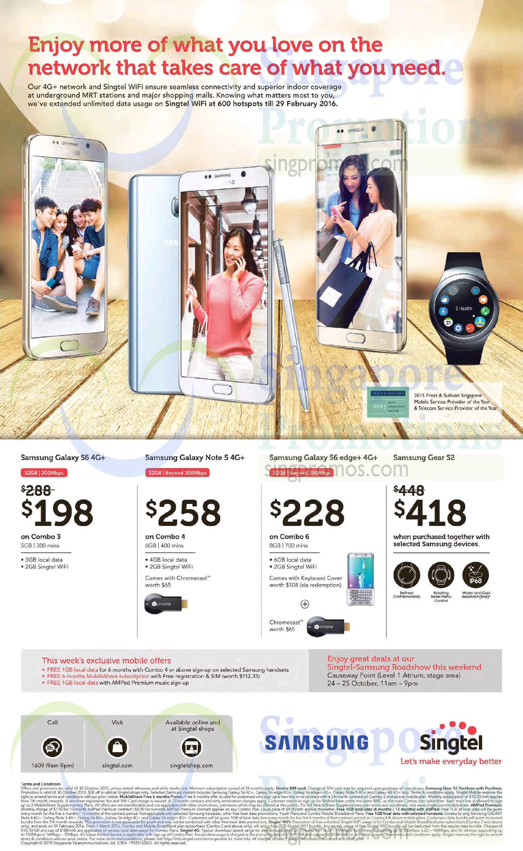 Samsung Galaxy S6, Samsung Galaxy S6 Edge Plus, Samsung Gear 2, Samsung Galaxy Note 5