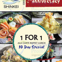 Read more about Shinkei Japanese Restaurant 1-for-1 Ala Carte Buffet 6 - 14 Oct 2015