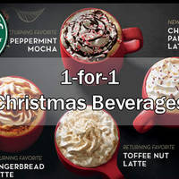 Starbucks 1-for-1 Venti Christmas Beverage Promotion (3pm to 7pm) 1 Dec 2015